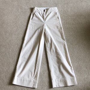 J Crew Pant in Wide Whale Corduroy - Natural - 0